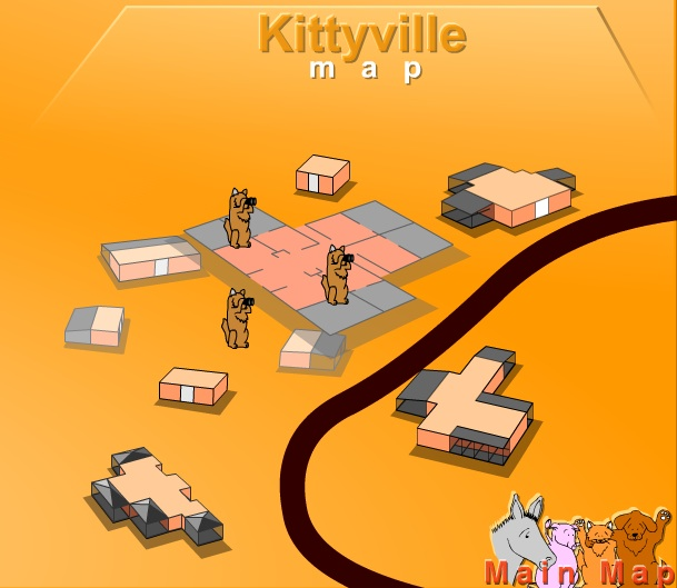 Virtual Tour Kityville map closeup